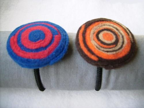 Set De Baño En Pano Lenci:Gomitas para el pelo de Paño Lenci