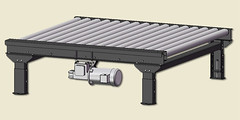 Heavy Duty 2,500 lbs Capacity Powered Roller Conveyor