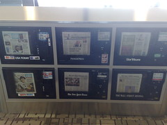 Newspaper boxes, Minneapolis-St. Paul airport
