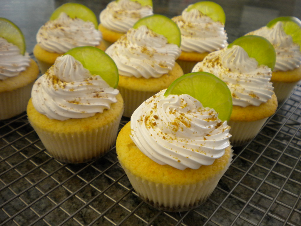This is a key lime cupcake with Ginger Snap crust and key lime filing ...