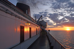 Badger at Sunset (jterry618) Tags: cruise ship peremarquette steam lakemichigan co steamboat coal steamengine ssbadger railroadcarferry