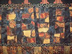Textures in Bark-closeup of reverse applique (jeanneaird) Tags: artquilt reverseapplique