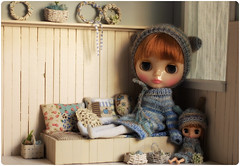 Bebe in the mood ^^ (megipupu) Tags: miniature doll handmade blythe hybrid dollhouse megipupu misssallyrice