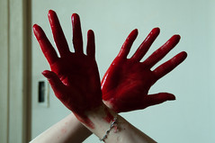 Les mains sales-22 (metatong) Tags: red color painting rouge blood hands acrylic hand main peinture killer murder dexter sang mains guilty murderer coupable acrylique tueur d300 redpaint meurtre meurtrier peinturerouge