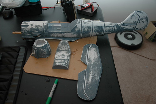 Fuselage, tail, cockpit all sanded