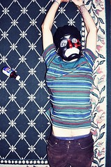 NyQuil Nightmare. Day three. (Cody Bralts) Tags: ny crazy mask stevie hipster stripe rug hip oriental nyquil