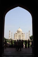 Walkway to the Taj Mahal