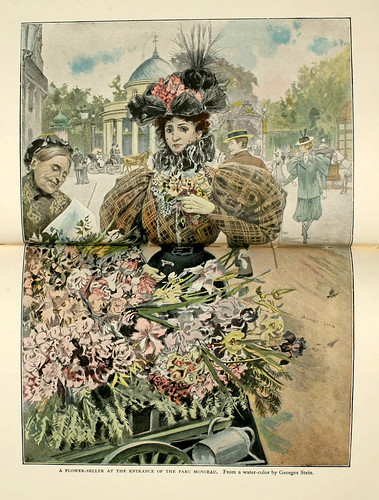 031-Una florista en la entrada del parque Monceau-Paris from the earliest period to the present day 1902