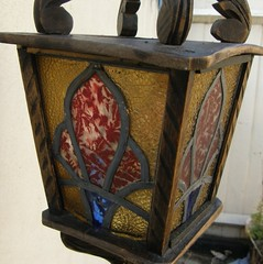 stained glass porch lamp