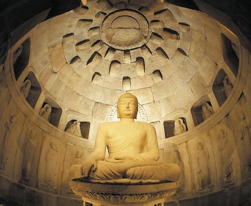 The Seokguram Grotto (part of the Bulguksa temple complex) South korea - ???