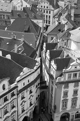 (wenzday01) Tags: city travel bw tower nikon europe rooftops czech prague praha monotone clocktower adobe czechrepublic nikkor oldtown oldtownsquare lightroom d90 starmsto astronomicalclocktower nikond90 18105mmf3556gedafsvrdx
