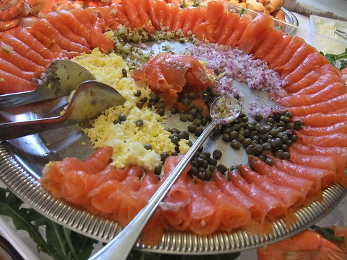 Smoked Salmon on the Sunday Brunch Buffet at The Worthington Inn