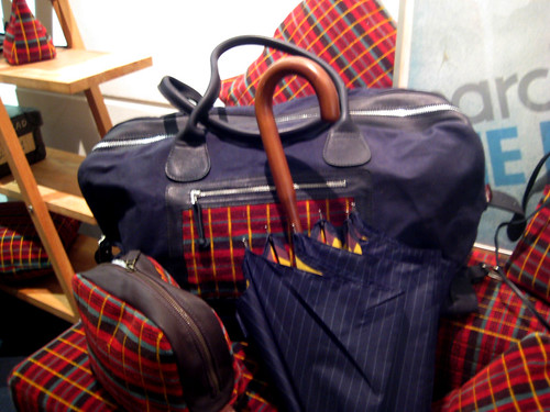 Moquette bags and umbrellas