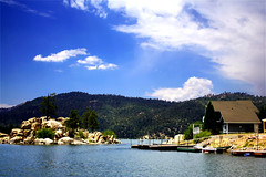 i live here (explored) (Ghadeer Q) Tags: california blue vacation sky usa lake holiday clouds canon landscape cottage explore bigbearlake canon1740 summer2009 ghadeerq
