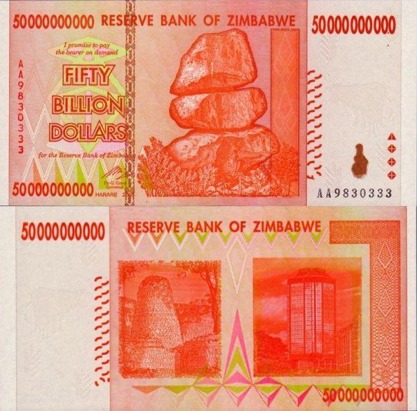 50 miliárd dolárov Zimbabwe 2008