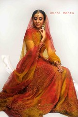 The Indian Bride (Roochster) Tags: red portrait woman india beautiful fashion lady portraits bride asia indian marriage shy pride desi shaadi mumbai ruchi elegance shivani bridalwear dupatta ghagracholi lehengacholi weddingseason ruchimehta roochster emotionalportraits