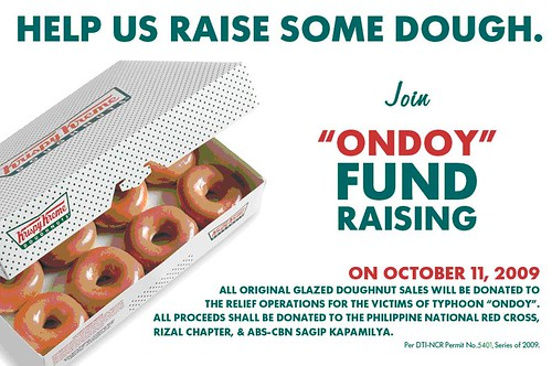 krispy kreme helps Ondoy Victims
