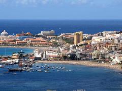 Los Cristianos, Tenerife (Snapjacs) Tags: sunset sea sun hot walking spain harbour restaurants promenade beaches tenerife hotels fishingboats canaryislands ferries sunbathing loscristianos fredolson playalasvistas playalascristianos