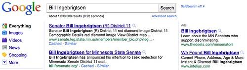 Google AdWords for Bill Ingebrigtsen