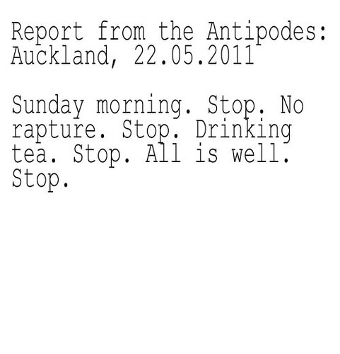 Report from the antipodes