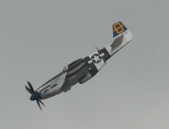 Mustang P51 (Jumping Jacques) At Southend Air Show May 2011 (Feggy Art) Tags: mustang p51 north american aviation united states america aif force usaf usaaf naa world war 2 ii ww2 fighter bomber propeller turboprop turbo prop tactical reconnaissance machine guns southend air show airshow 29 may 2011 aircraft airplane plane planes jet turbojet essex england aerobatic aviator areoplane vapours vapors colours sky blue clouds vapour vapor trail kiss x2 rebel xsi eos canon feggy art victius 450d jumping jacques