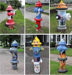 Hydrants Parade in Delhi, NY (shirley_turner) Tags: hydrant delhi parade catskills dacha countryhouse