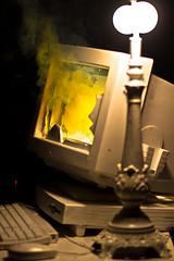 (Drew Coffman) Tags: computer bluescreenofdeath 85mm 7d bsod virus computercrash