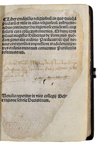Ownership inscription associated with Boniohannes de Messana: Speculum sapientiae