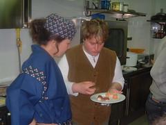 Maestra Taura al Corso di Sushi 2004