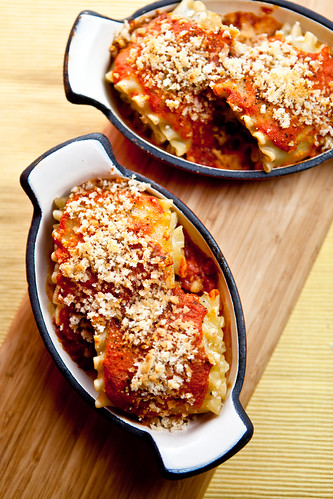 Eggplant and Pinenut Rolled Lasagna
