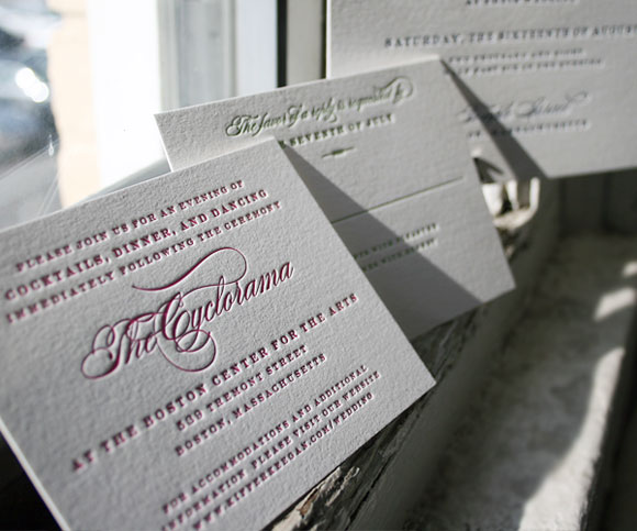 Traditionally reception cards were enclosed along with the main invitation