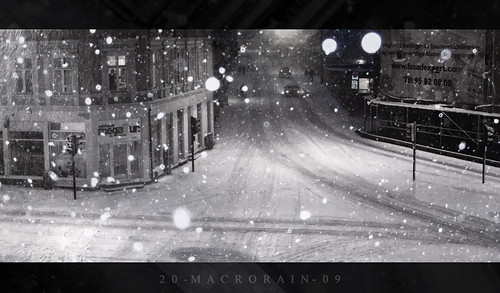 Snow storm over central Oslo