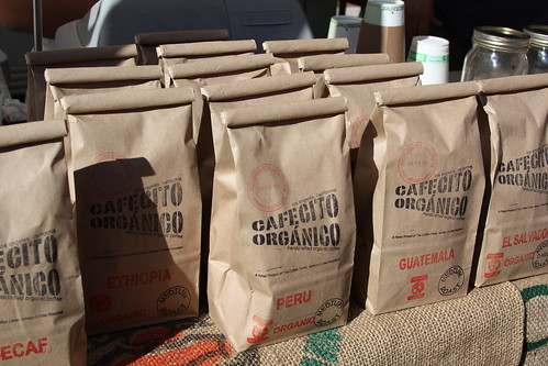 Cafecito Organico coffee at the Hollywood Farmers Market