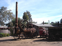 Pioneer Settlement de Swan Hill, locomobile (pencroff) Tags: voyage travel vacances holidays australia victoria boiler steamengine australie tractionengine locomobile chaudire swanhill machinevapeur pioneersettlement