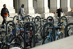 Bike parking at Union Station, DC