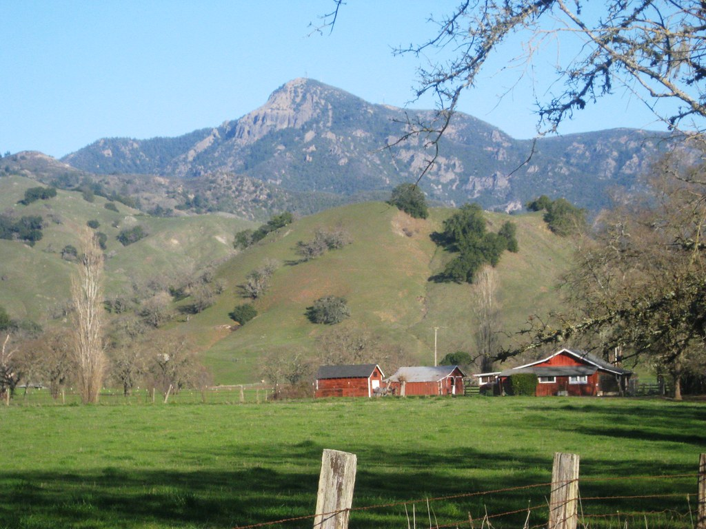Mount Saint Helena from Knight's Valley, Sonoma County, CA