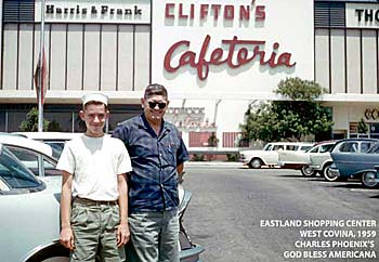 CLIFTON'S CAFETERIA, WEST COVINA, CALIF. 1959