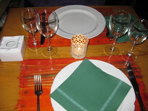 A mesa puesta