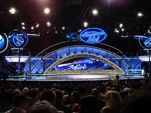 The Idol stage. Photo by Mark Goldhaber.