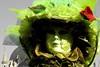 primo piano di maschera verde con fiore rosso (Nicola Zuliani) Tags: venice verde carnevale venezia maschere nizu nicolazuliani wwwnizuit