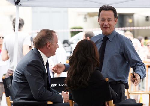 Tom Hanks filmando ángeles y demonios
