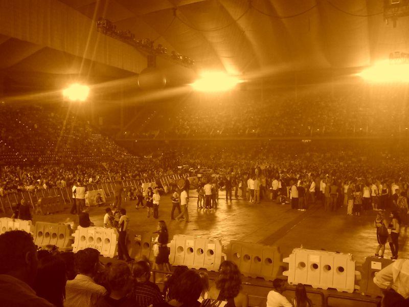 sepia crowd