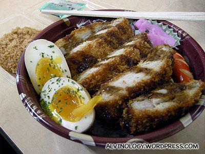 Katsu-don for breakfast