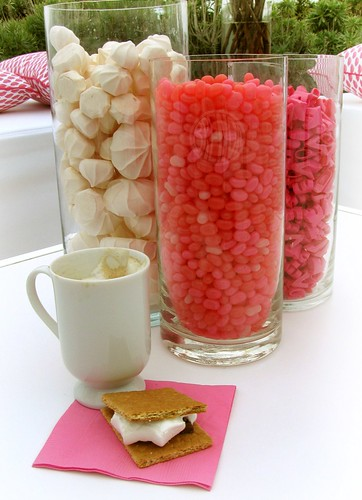 candy, capuccino, s'mores and barbie shoes!