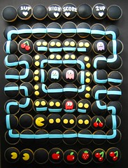 pac-man wedding cake! (hello naomi) Tags: wedding man game cake cherry cupcakes video ghost retro pacman 80s