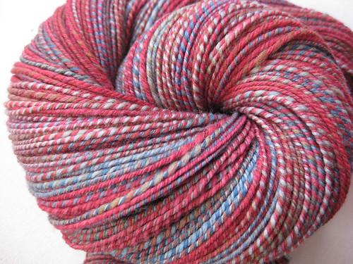 3-ply hand-spun sock yarn