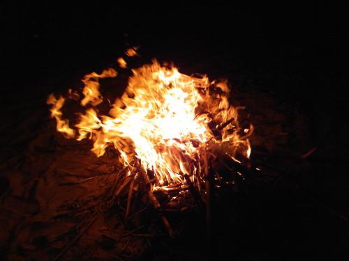 Fire on da sekongkang beach