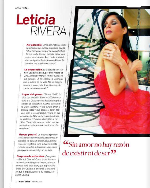 Mujer única. Amar ES... Leticia Rivera, pág.30 ,Feb09.