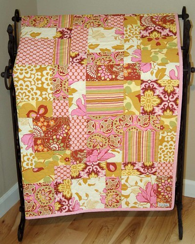The Autumn Lotus Lap Quilt w/ Amy Butler fabric