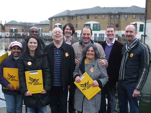 Liberal Democrats campaigning with Simon Hughes MP